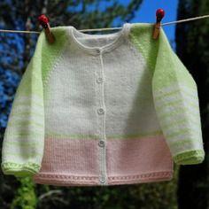 Layette gilet brassière 1-3 mois neuve tricotée main
