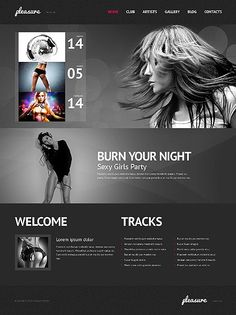 'Pleasure Night' WordPress 3.x Template 45050 http://zign.nl/45050