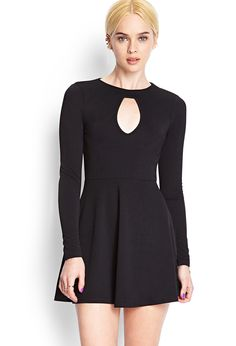 Keyhole Knit Skater Dress | FOREVER21 - 2000104415