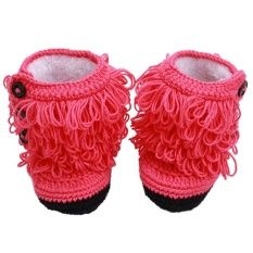 HengSong Baby Tassel Shoes Warm Shoes Watermelon (Red)