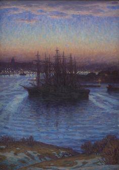 Prins Eugen (Swedish, 1865-1947), Ships at Anchor. Winter. 1908. Oil on canvas. Statens Museum for Kunst, Copenhagen.