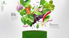 Health food by Kamil Rawa, via Behance