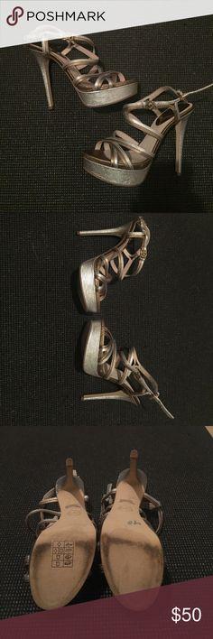 Mk heels size 6.5 Silver and copper mk heels size 6.5 Michael Kors Shoes Heels