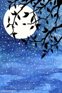 Night Sky by creampuffy.devian… on – Top Trend – Decor – Life Style Night Sky Drawing, Night Sky Painting, Galaxy Painting, Oil Pastel Colours, Pastel Art, Watercolor Night Sky, Watercolor Art, Kids Paint Night, Shadow Art