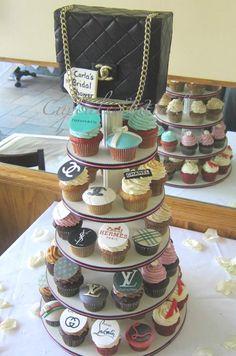 Chanel Bag Cake Cupcake Tower