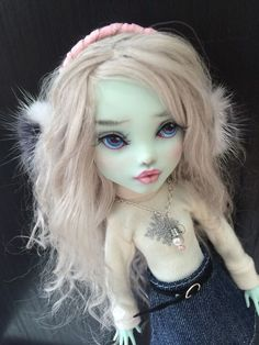 Ooak Monster High Frankie Doll Repaint By Liuba Small