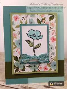 DIY, Handmade card with Pop Up inside surprise. The floral image is from the… Fun Fold Cards, Pop Up Cards, Folded Cards, Cool Cards, Hand Made Greeting Cards, Making Greeting Cards, 8 Pool, Birthday Bouquet, Glitter Ribbon