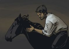 Athos and Roger the Horse