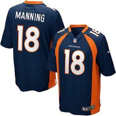 Men's Nike Denver Broncos #18 Peyton Manning Limited Navy Blue Alternate NFL Jersey Sale
