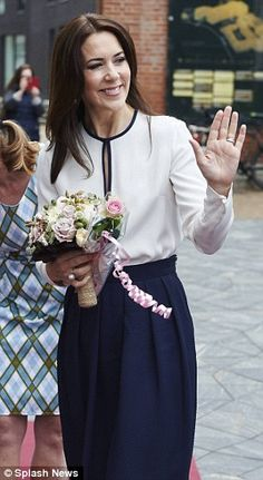 Denmark's Crown Princess Mary left red-faced after man farts during her speech | Daily Mail Online