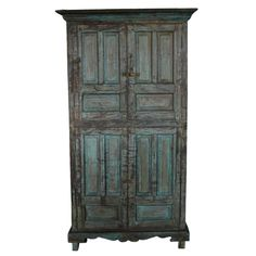 Hand-Carved Goan Indian Cabinet | From a unique collection of antique and modern furniture at https://www.1stdibs.com/furniture/asian-art-furniture/furniture/