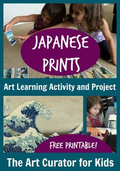 Japanese Woodblock Prints Lesson for Kids The Art Curator for Kids - Japanese Art for Preschoolers - Mount Fuji ukiyo-e prints - Hokusai lesson for kids - Activity and Printable Art Lessons Elementary, Lessons For Kids, Projects For Kids, Art Projects, Learning Activities, Activities For Kids, Japan For Kids, Japanese Prints, Japanese Art