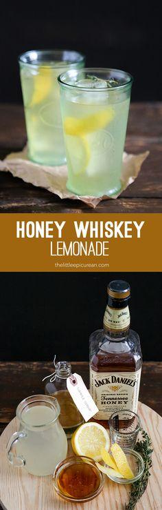 Honey Whiskey Lemonade