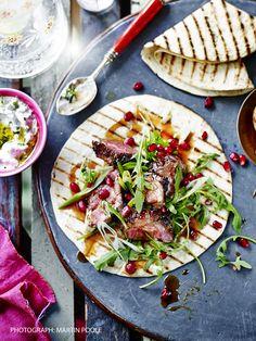 Persian spiced lamb wraps by Sabrina Ghayour More lamb recipes here  http://www.sainsburysmagazine.co.uk/recipes/mains/one-pot/item/tom-kerridge-slow-roast-lamb-with-boulangere-potatoes
