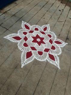 Selected ran goli Simple Rangoli Designs Images, Rangoli Designs Latest, Rangoli Designs Flower, Rangoli Patterns, Rangoli Ideas, Rangoli Designs With Dots, Rangoli Designs Diwali, Flower Rangoli, Beautiful Rangoli Designs