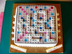 60th Scrabble board cake By Ariginal on CakeCentral.com
