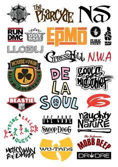 Hip Hop logos - A3 Poster