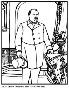 grover cleveland our 22nd and 24th president of the united states free printable coloring sheet