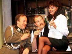 The actor starred as reluctant resistance figure and cafe owner Rene Artois for 10 years in the hit sitcom. Vicki Michelle, British Comedy Series, Nylons, Miranda Hart, Running Jokes, Comedy Tv, Vintage Tv, Classic Tv, Classic Beauty