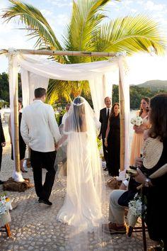 #veils  Photography: Raquel Reis - raquelreis.com Flowers: Tai Flora - taiflora.com/  Read More: http://www.stylemepretty.com/2012/01/26/jamaica-wedding-by-raquel-reis/