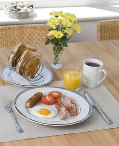 Breakfast Table ~ Simple pleasures ~   Setting by talkphotography, via Flickr