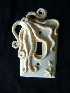 Octopus Light Switch Cover. Octopus Art Sculpture Gifts Ornaments Wall Decor Decorative Arts Housewares.. $10.00, via Etsy.