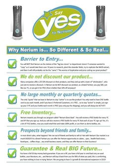 """Say YES to Nerium"". www.sdufrane.arealbreakthrough.com"
