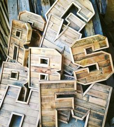 Spell it out with reclaimed-wood letters. #etsy #etsyfinds