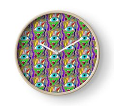 """Imagine how impressed your friends would be if they saw this Primitive """"Vision Quest"""" Clock hanging on your wall!!!! (Just one of the BILLIONS of Primitive products to be had at Redbub…"""