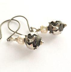 Sterling Silver Earrings Handmade Bali Bead by HeidemarieMDesign