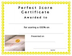 Certificate template for kids free printable certificate templates certificate template for kids free printable cert ificate templates for school perfect attendance certificate yadclub Choice Image