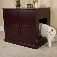 $223.30 (CLICK IMAGE TWICE FOR UPDATED PRICING AND INFO)  Pet Studio Cat Litter Box Cabinet Mahogany Storage Furniture. See More Cat Litters Box Cabinets at http://www.zbuys.com/level.php?node=3714=cat-litter-box-cabinets