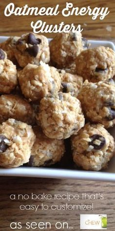 Oatmeal Energy Clusters as seen on The Chew #TheChew #Recipe