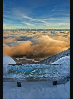 Alpine sunset above the sea of clouds. Taken from the swiss Jura , Canton of Neuchatel. Amazing Grace, Switzerland, Clouds, Mountains, Sunset, Nature, Travel, Rock Cakes, Law School