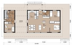 Isokari - Pluspuu Talot Small House Floor Plans, Family House Plans, Small House Design, Living Area, Sweet Home, Cottage, How To Plan, Architecture, Building