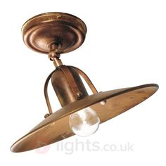 Ceiling lamp Osteria made of oxidized brass 4011119