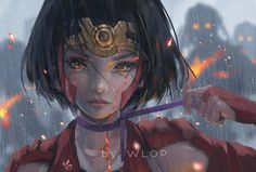 Mumei from Kabaneri of the Iron Fortress by wlop (Ghostblade?)