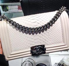 Python Chanel Boy Bag