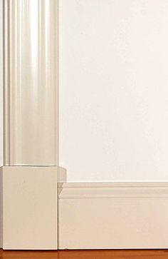 Fönsterfoder och golvsocklar | www.allmoge.se Moldings And Trim, Door Trims, Colour List, New Homes, Flooring, Doors, Interior Design, Lillehammer, House