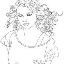 Beautiful Taylor Swift close up coloring page. This Beautiful Taylor Swift close up coloring page is available for free in TAYLOR SWIFT coloring pages. People Coloring Pages, Super Coloring Pages, Blank Coloring Pages, Coloring Pages For Girls, Printable Coloring Pages, Tattoo Coloring Book, Coloring Book Art, Coloring Sheets, Free Online Coloring
