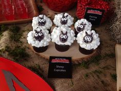 How to Train Your Dragon Sheep Cupcakes