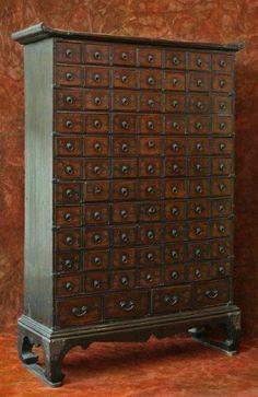 korean wedding chest | Antique Korean Traditional Doctor's Medicine Chest : Lot 331