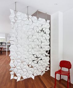 Room Divider Facet Is A Screen That Plays With Transparency