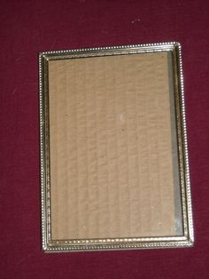 """Gold Tone Photo Frame holds 5 x 7"""" photograph ~ for sale at Wenzel Thrifty Nickel eCRATER store"""