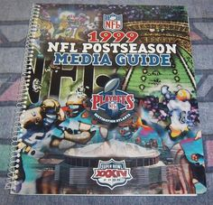 NFL 1999 Postseason Media Guide Fully Indexed Spiral Bound, Fast Shipping Incl.!