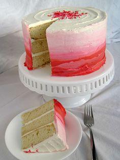 Pink Vanilla Ombre Cake