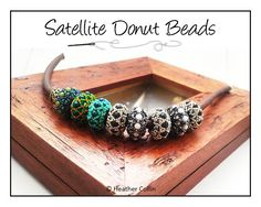Beading Pattern, Instructions, Small Donut Beaded Slider Bead, Tutorial SATELLITES instant download PDF
