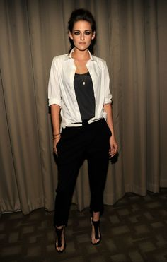 Kristen Stewart  style: love the tomboy edge of this look. Nailed it.