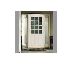 Replacement residential entry door with storm door for Andersen retractable screen
