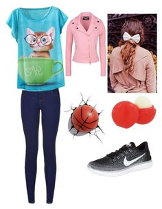 """""""danilovesbasketball"""" by boston-c on Polyvore featuring Boutique Moschino, Beauxoxo, Eos, NIKE, women's clothing, women, female, woman, misses and juniors"""